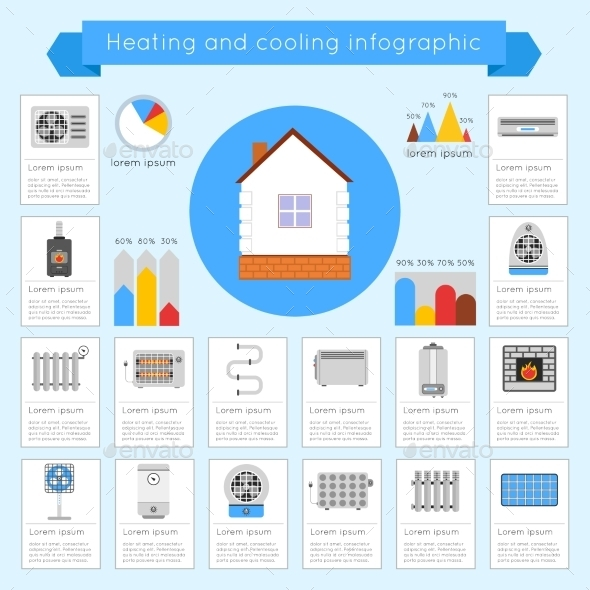 GraphicRiver Heating and Cooling Infographics 9684546