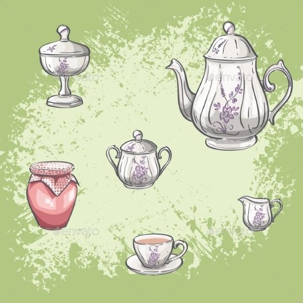 GraphicRiver Tea Background 9684569