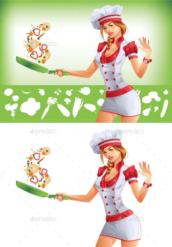GraphicRiver Woman Cooking 9684584