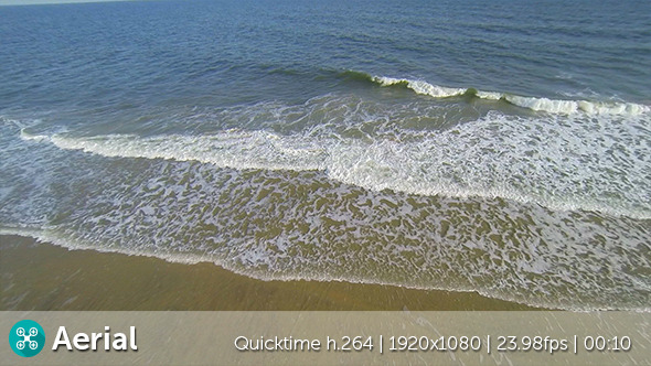 VideoHive Beach Waves Aerial 9684893