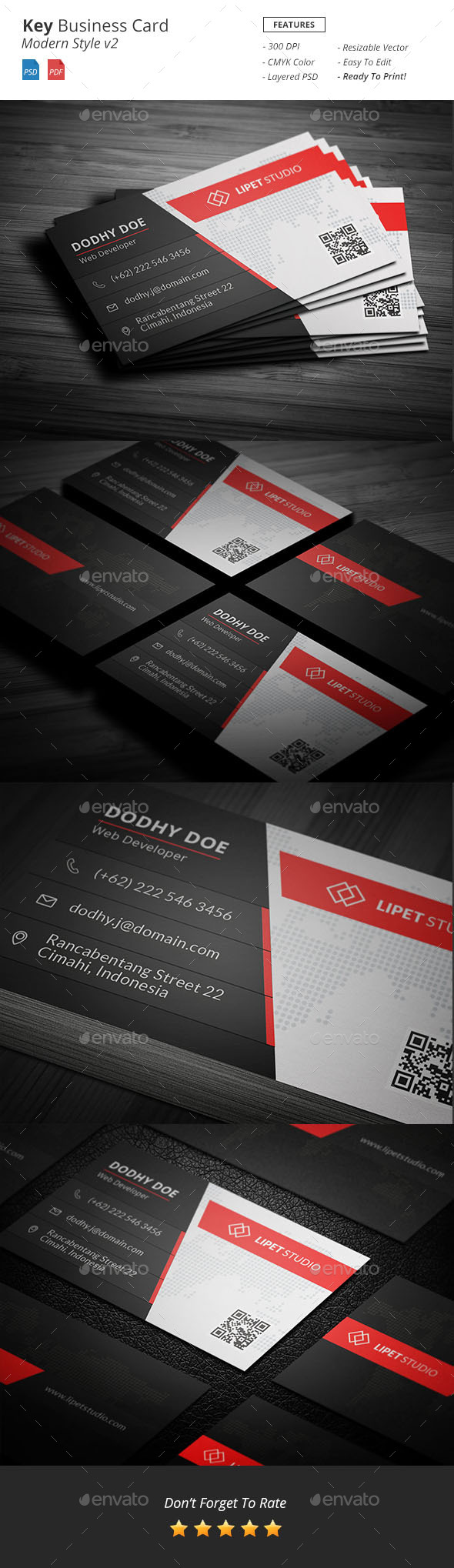 Key Modern Business Card Template v2