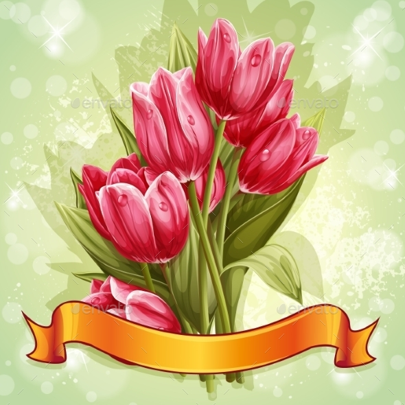 GraphicRiver Tulip Background 9685349