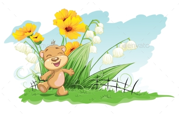 GraphicRiver Bear with Background 9685736