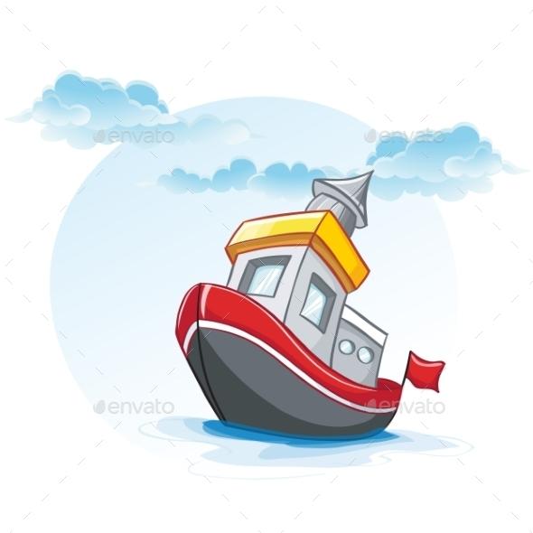 GraphicRiver Ship Cartoon 9685778