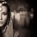 Beauty Ethnic Woman Face. Monochrome Portrait - PhotoDune Item for Sale
