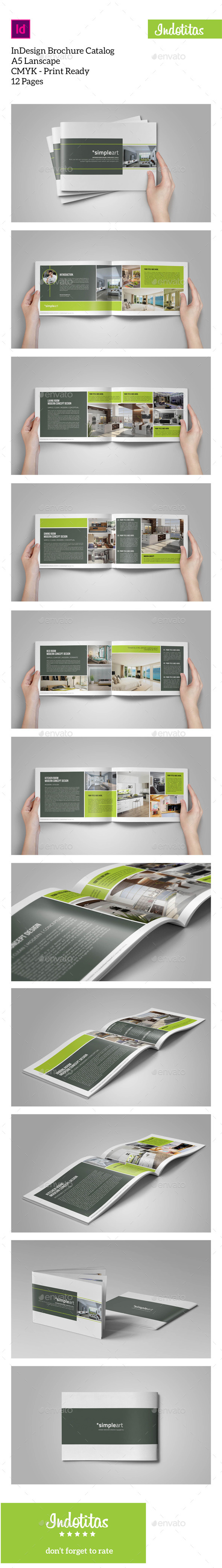 GraphicRiver Brochure Catalogs A5 Lanscape 9685881