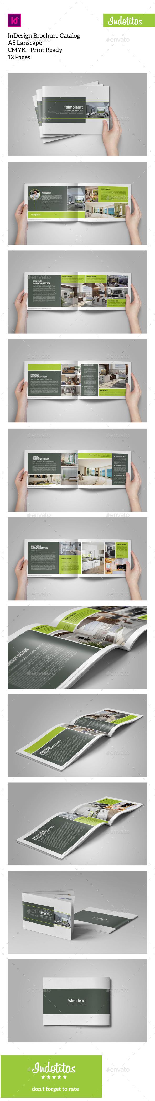 GraphicRiver Brochure Catalogs A5 Lanscape 9685881