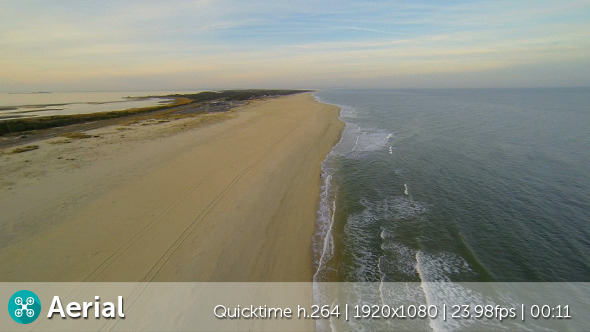 VideoHive Beach Rise Up Aerial 9685903