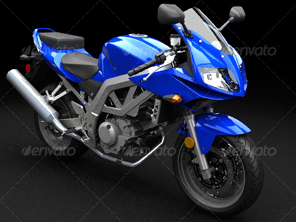 3DOcean Suzuki SV650s 3D Models -  Vehicles  Land  Motorcycles 123236