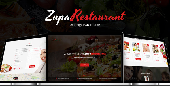 ThemeForest ZupaRestaurant OnePage PSD Template 9686050