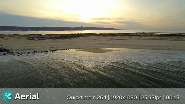 VideoHive Beach Sunset Aerial 9686114
