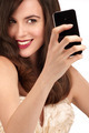 Beautiful woman taking a selfie with  smartphone - PhotoDune Item for Sale