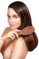 Beauty model showing perfect skin and long healthy brown hair - PhotoDune Item for Sale