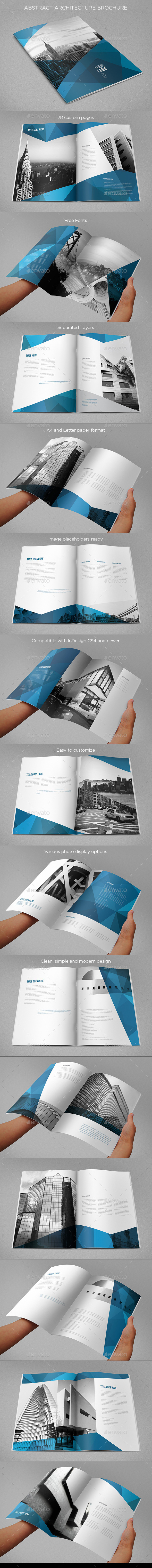 Abstract Architecture Vertical Brochure