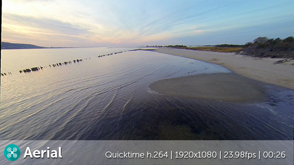VideoHive Bay Sunset Aerial 9686345