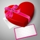 Red Heart Shaped Box with Ribbon