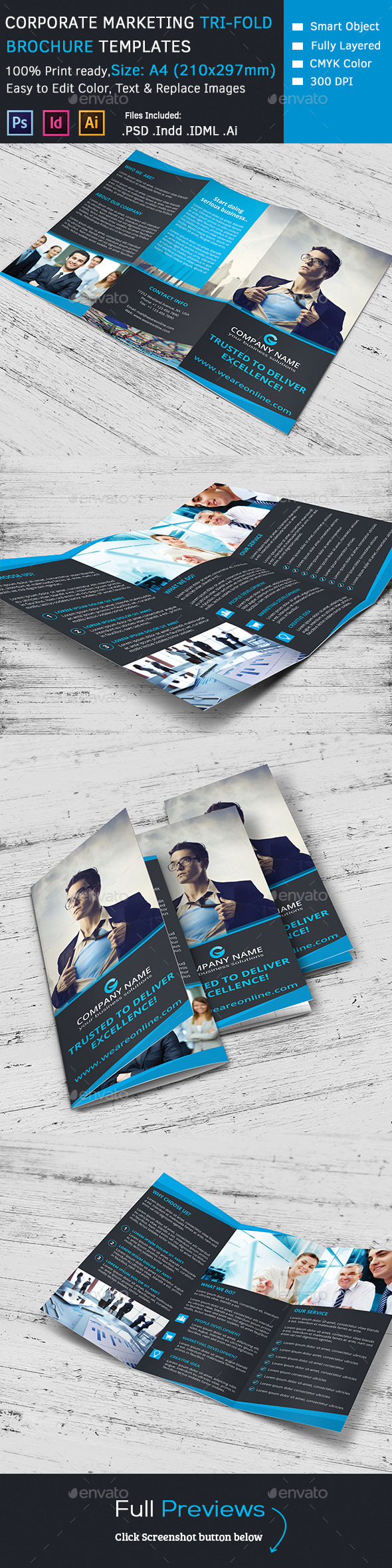 GraphicRiver Corporate Marketing Tri-Fold Brochure 9686823