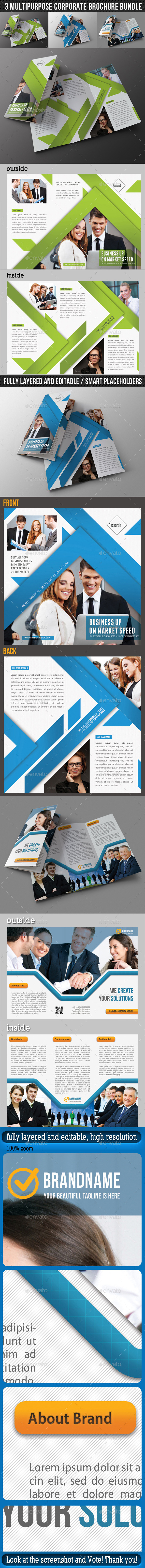 GraphicRiver 3 in 1 Corporate Brochure Bundle 03 9686826