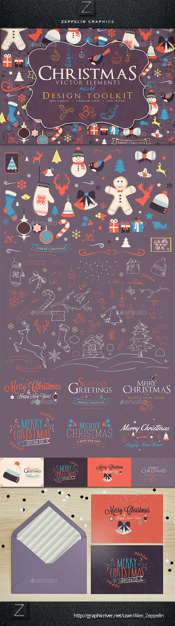 GraphicRiver Christmas Elements Toolkit 9686979