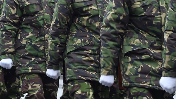 VideoHive Soldiers Walking 9687279