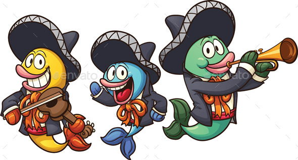 GraphicRiver Mariachi Fish 9687364