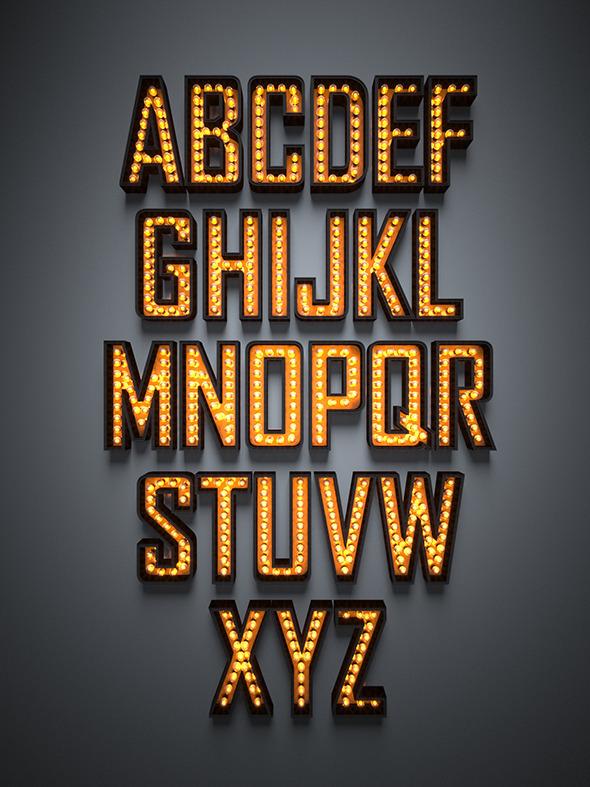 3DOcean Light Font 9687369