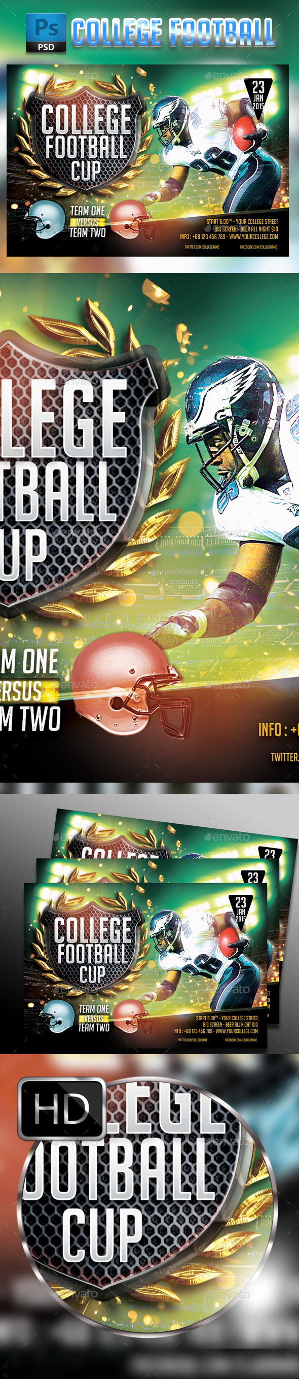 GraphicRiver College Football- Horizontal 9687374