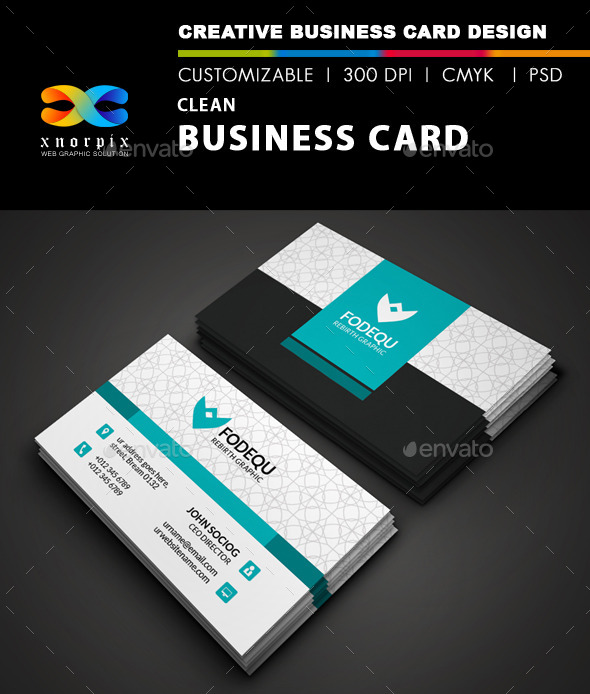 GraphicRiver Clean Business Card 9687598