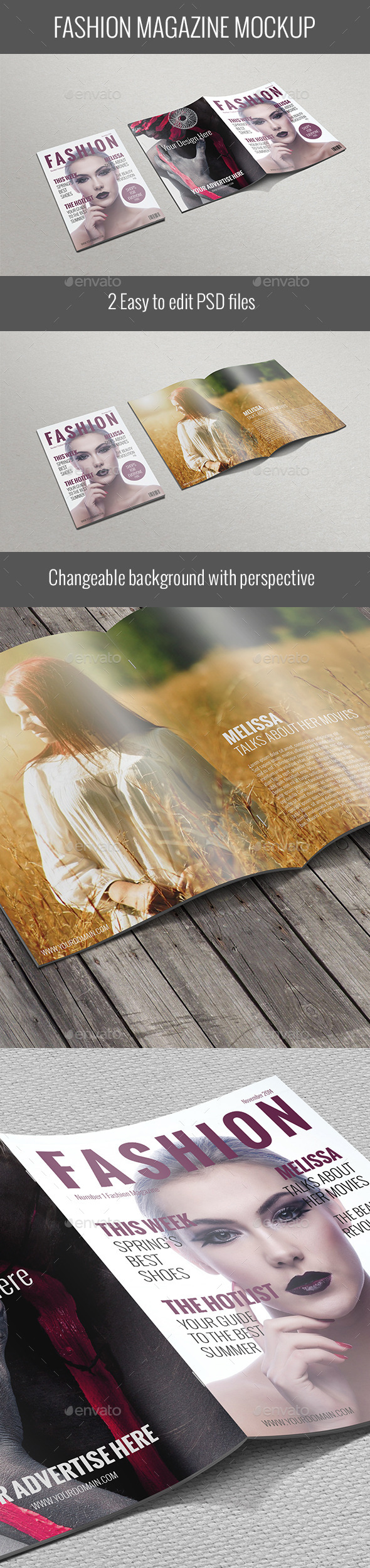 GraphicRiver Fashion Magazine Mockup 9687732