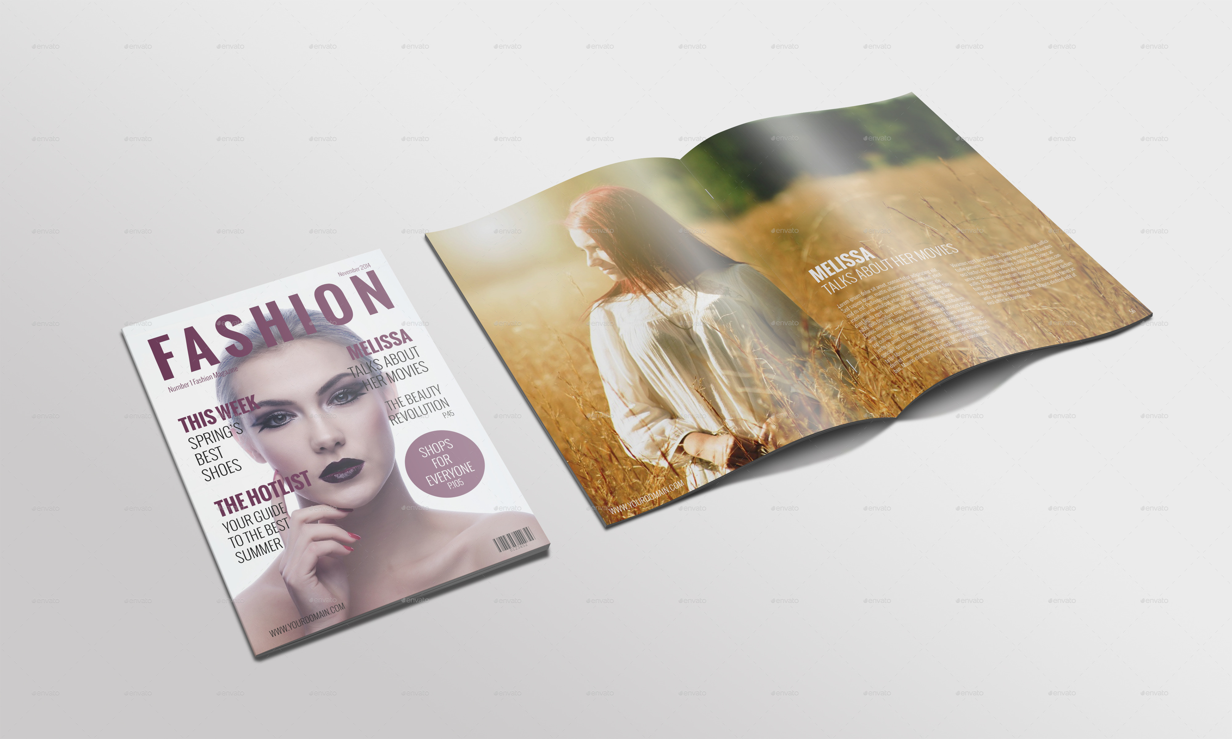 Fashion Magazine Mockup By Masterpixdesign Graphicriver