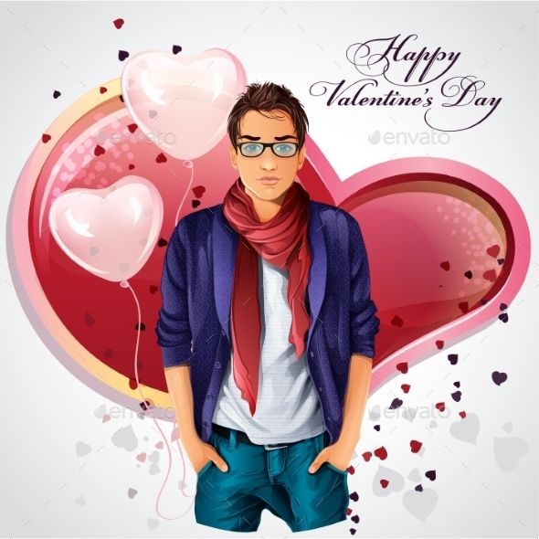 GraphicRiver Valentine Card 9687830