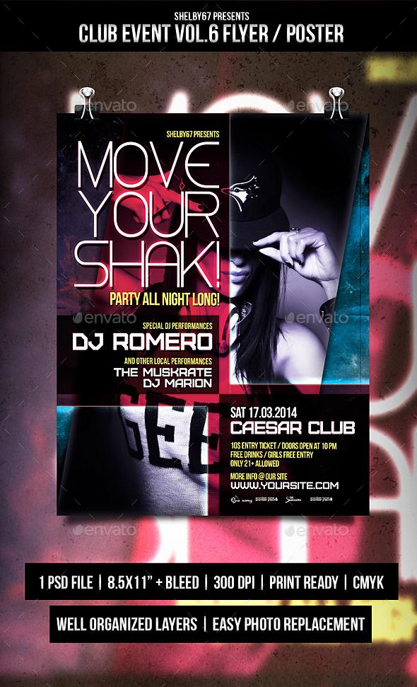 GraphicRiver Club Event Flyer Poster Vol.6 9687933