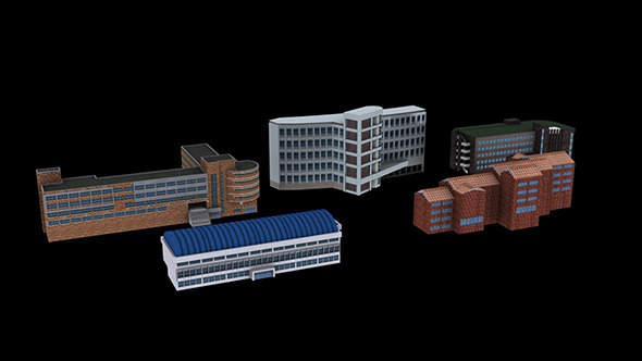 3DOcean Building Package A03 9688016