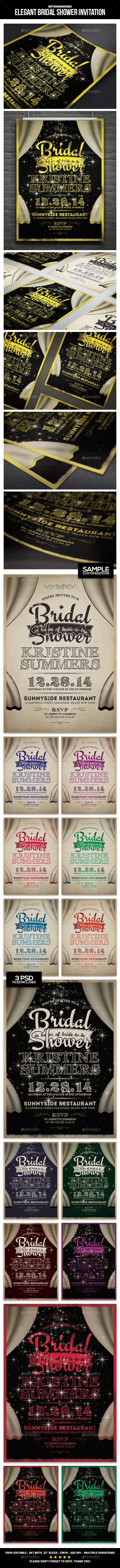GraphicRiver Elegant Bridal Shower Invitation 9688207