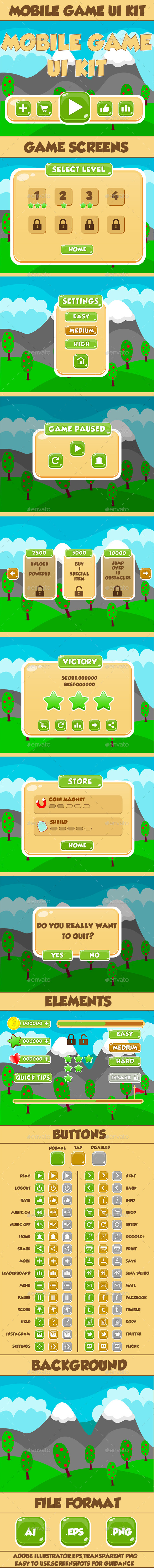GraphicRiver Mobile Game UI Kit 06 9688209