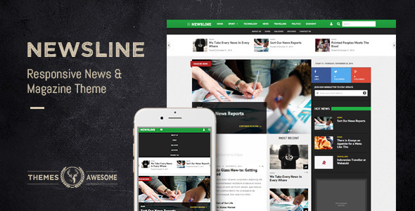 ThemeForest Newsline Responsive News and Magazine Theme 9614971