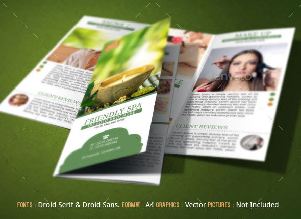 Spa Resort Brochure Template by BloganKids – Spa Brochure Template