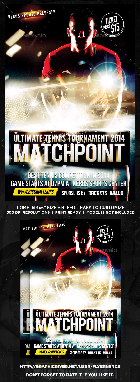 MatchPoint Tennis Sports Flyer
