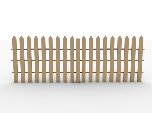 Realistic Garden Fence Low Poly Model By Cinema4dmad 3docean