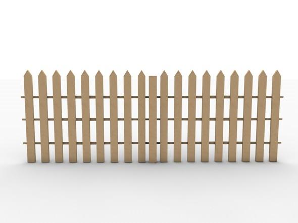 3DOcean Realistic garden fence low poly model 981036