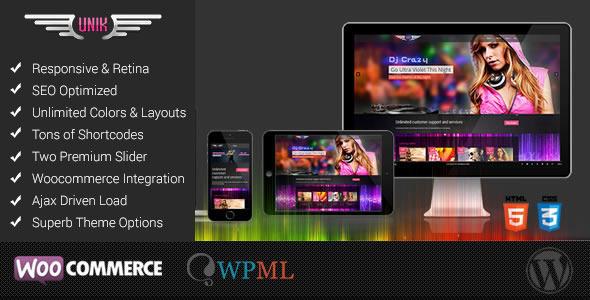 UNIK - Universal Music Responsive Wordpress Theme - Music and Bands Entertainment