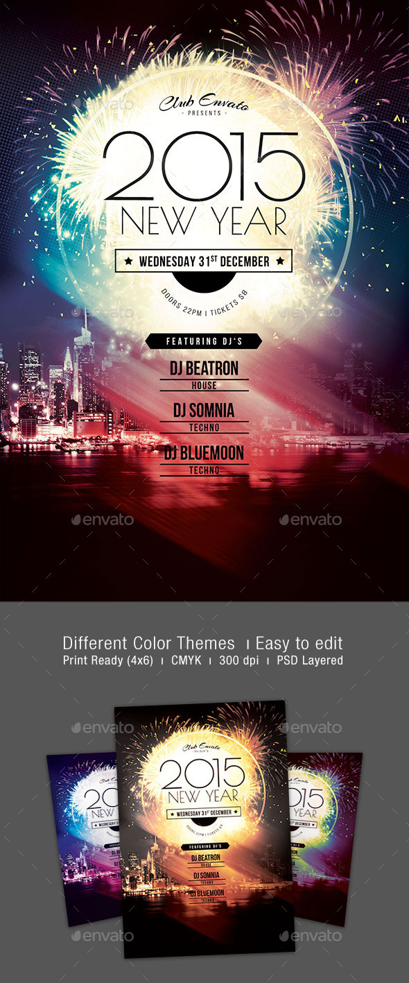 GraphicRiver 2015 New Year Flyer 9689412