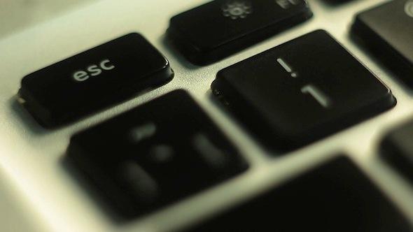 VideoHive Finger Typing Esc Key 9689694