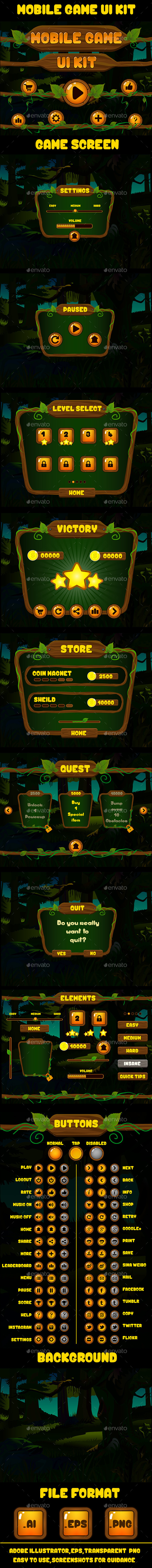 GraphicRiver Mobile Game UI 08 9690176