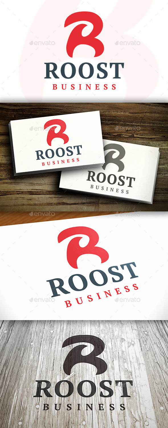 GraphicRiver Roost R Letter Logo 9690968