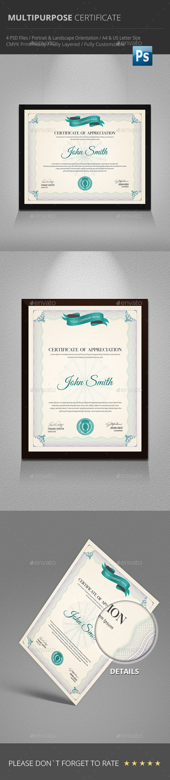 GraphicRiver Multipurpose Certificate 9691616