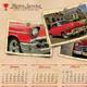 Retro Service Calendar Template - GraphicRiver Item for Sale