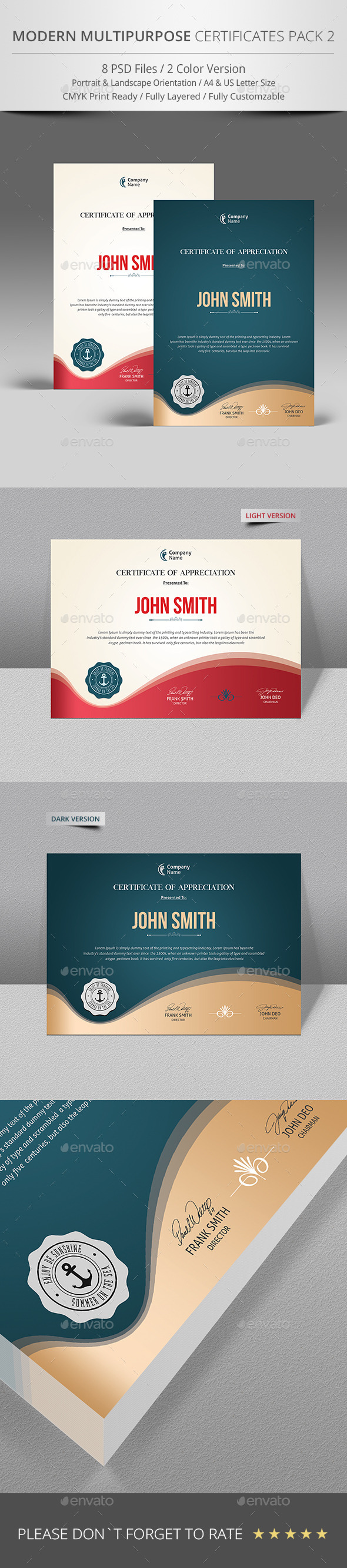 GraphicRiver Simple Multipurpose Certificate 9691722