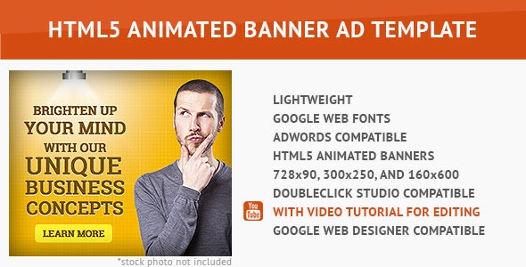 CodeCanyon Corporate Ad HTML5 Animated Banner 9630484