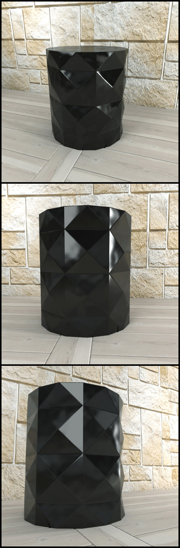 3DOcean Andrew Martin Dipoli Side Table Black 9691793